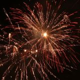Fireworks. New year fireworks explosion detail royalty free stock images