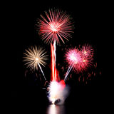 Fireworks. From new year festival in thailand Royalty Free Stock Images