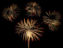 Fireworks for new year Royalty Free Stock Photos