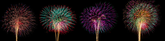 Fireworks for new year. Fireworks for happy new year festival Royalty Free Stock Image