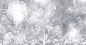 Fireworks at New Year. Holiday background Stock Photography