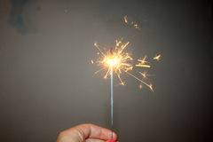 Fireworks New Year holidays sparkler  fire Stock Photo