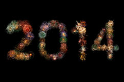 Fireworks. 2014 new year made from fireworks Stock Image