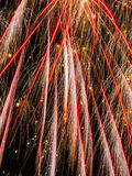 Fireworks new year night trails Stock Photography