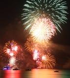Fireworks. New Year's Eve fireworks in Dubai, United Arab Emirates Royalty Free Stock Photo