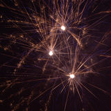 Fireworks. New Year`s Eve fireworks explosion royalty free stock photo
