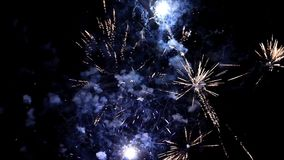 Fireworks, new year`s eve, magnificent various colors, video stock video footage