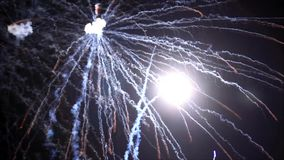 Fireworks, new year`s eve, magnificent various colors, video stock video