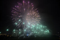 Fireworks during New Years Day Royalty Free Stock Photo