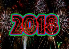 Fireworks 2018 New Years Eve concept stock photos