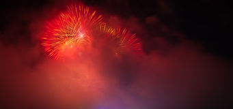 Fireworks on new years eve Royalty Free Stock Photos