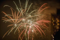 Fireworks. New Years fireworks in the sky Royalty Free Stock Image