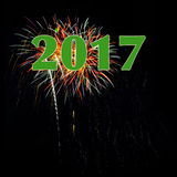 Fireworks 2017 New Years Royalty Free Stock Images