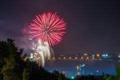 Fireworks in Niagara Falls Stock Photos