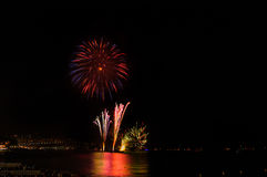 Fireworks,Nice,France Royalty Free Stock Photo
