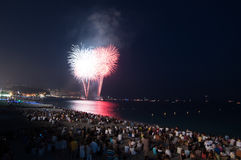 Fireworks,Nice,France Royalty Free Stock Photos