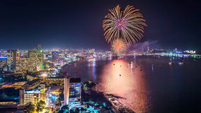 Fireworks nigh Royalty Free Stock Images
