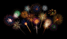 Fireworks Night. Celebrating the New Year with wonderful fireworks Stock Images