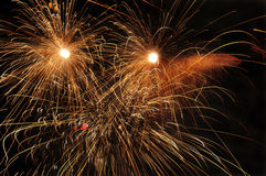 Fireworks at night. Royalty Free Stock Photography