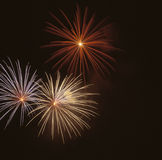 Fireworks at night. Beautiful Fireworks for nighttime celebration Stock Images