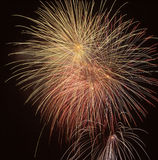 Fireworks at night. Beautiful Fireworks for nighttime celebration Royalty Free Stock Photos