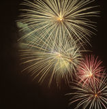 Fireworks at night. Beautiful Fireworks for nighttime celebration Royalty Free Stock Photo