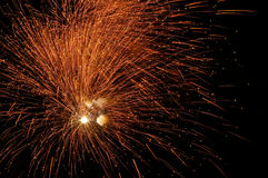 Fireworks in the night Royalty Free Stock Photography