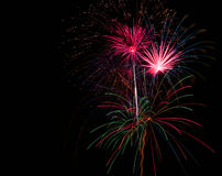 Fireworks at Night Stock Image