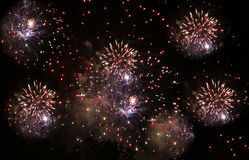 Fireworks on night background royalty free stock images