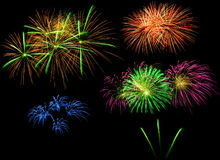 Fireworks in the night Stock Photography