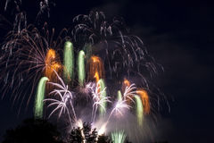 Fireworks at night. Beautiful fireworks at night in exposure Royalty Free Stock Photo