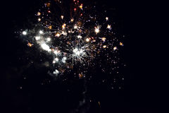 Fireworks In The Night. Beautiful Fireworks In The Night Sky Stock Photography