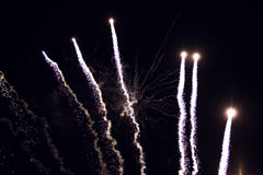 Fireworks In The Night. Beautiful Fireworks In The Night Sky Stock Images