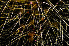 Fireworks at night in blur background Royalty Free Stock Photo