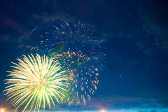 Fireworks on night. Stock Images