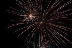Fireworks at night Royalty Free Stock Image