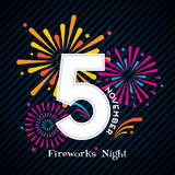 Fireworks Night Design for 5th November Stock Photos