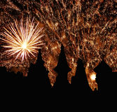 Fireworks at night Royalty Free Stock Photography