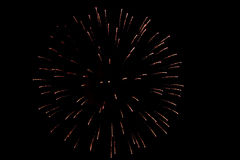 Fireworks. A night party with fireworks Royalty Free Stock Photo