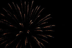 Fireworks. A night party with fireworks Royalty Free Stock Image