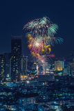 Fireworks night scene Stock Images