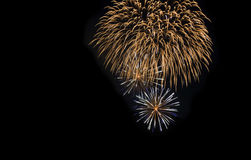 Fireworks at Night. Shot of fireworks against a black background Royalty Free Stock Images
