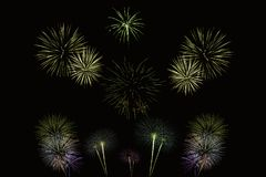 Fireworks night show in United Kingdom Stock Photography