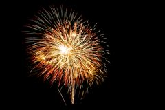 Fireworks. In the night sky Stock Images