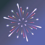 Fireworks in the night sky Stock Images