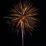 Fireworks in the night sky background Royalty Free Stock Photos