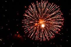 Fireworks on night sky. Beautiful fireworks on night sky Stock Photo