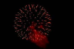 Fireworks in the night sky Stock Photography
