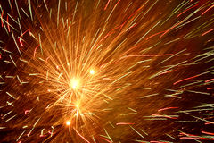 Fireworks in night sky Royalty Free Stock Photo