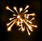 Fireworks in night sky Stock Images